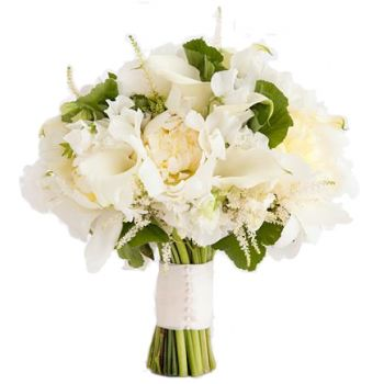 Istanbul flowers  -  Ivory Romance  Flower Bouquet/Arrangement