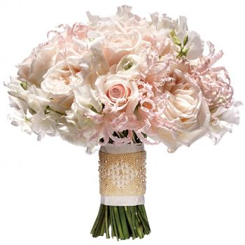 Torremolinos flowers  -  Blushing Romance Flower Bouquet/Arrangement