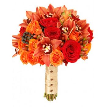 Benalmadena flowers  -  Autumn Romance Flower Bouquet/Arrangement