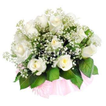 Pau flowers  -  Soft White Romance Flower Bouquet/Arrangement