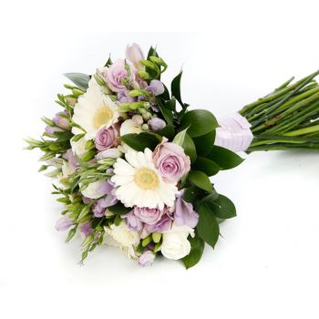 fleuriste fleurs de Barbade- Purple Romance Bouquet/Arrangement floral