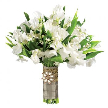 fleuriste fleurs de New York- Douce Romance Bouquet/Arrangement floral