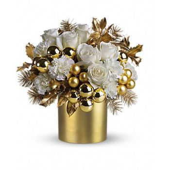 Barbados flowers  -  Golden Festival Flower Bouquet/Arrangement