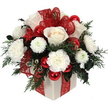 Cayman Islands flowers  -  Festive Surprise Flower Bouquet/Arrangement