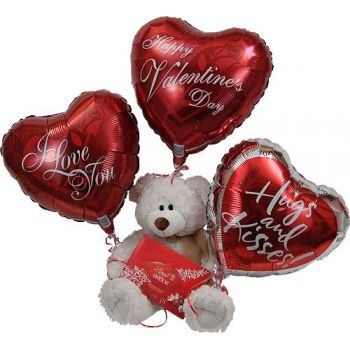 Abu Dhabi online Florist - Teddy Chocolates Balloon Bouquet