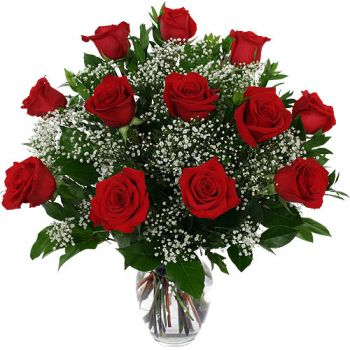 St. Lucia flowers  -  Scarlet Beauty Flower Bouquet/Arrangement