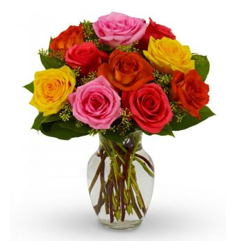Aktobe flowers  -  Colour Burst Flower Bouquet/Arrangement