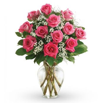 Omsk flowers  -  Pink Delight Flower Bouquet/Arrangement