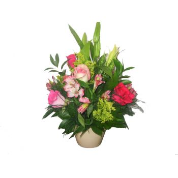 fleuriste fleurs de Barbade- Pink Delight Bouquet/Arrangement floral