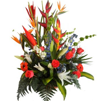 fleuriste fleurs de Sainte-Lucie- Tropical Burst Bouquet/Arrangement floral