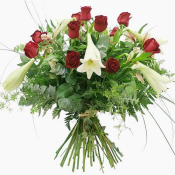 fleuriste fleurs de Barcelone- Passion Bouquet/Arrangement floral