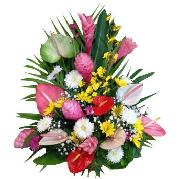 St. Lucia flowers  -  Exotic Flower Bouquet/Arrangement