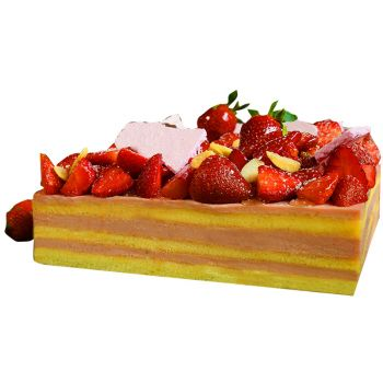 Jakarta flowers  -  Strawberry Soft Cake Flower Delivery
