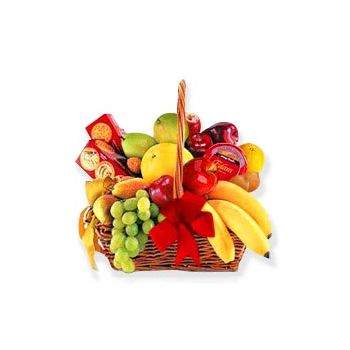 fleuriste fleurs de Trinidad- Fruits et Cracker Delight Bouquet/Arrangement floral