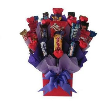 Trinidad flowers  -  Birthday Chocolate Celebration Flower Delivery