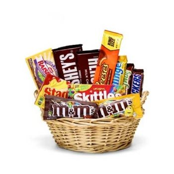 Trinidad flowers  -  Chocolate Candy Basket Flower Delivery