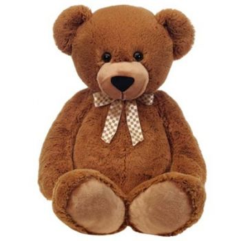 Rudny Kazakhstan flowers  -  Brown Teddy Bear  Delivery