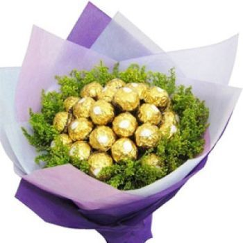 India Floristeria online - Bouquet de chocolate Ramo de flores