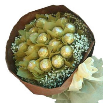 Bali flowers  -  Chocolate Desire Flower Bouquet/Arrangement