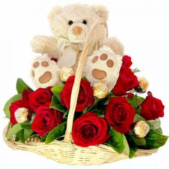 Delhi online Florist - Passion Basket Bouquet