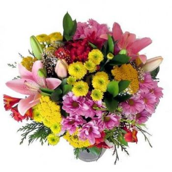 Oral flowers  -  Garden Blushes Flower Bouquet/Arrangement