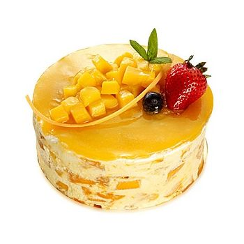 Hong Kong flowers  -  Mango Mousse Cake Flower Bouquet/Arrangement