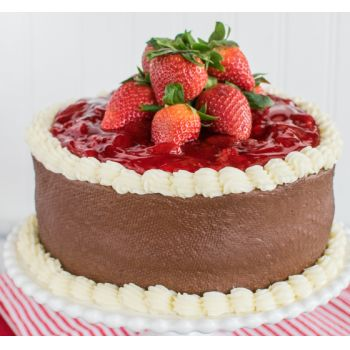 Hong Kong online cvetličarno - Strawberry Mousse torta Šopek