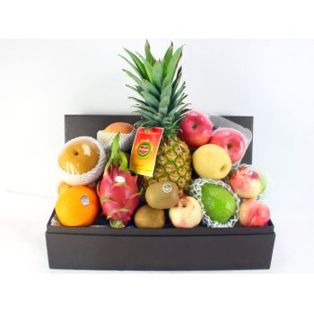 Hong Kong flowers  -  Elegant Fruit Hamper Flower Bouquet/Arrangement