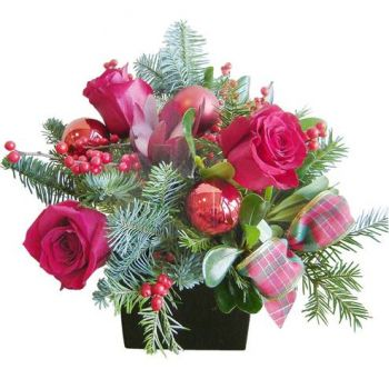 Torremolinos flowers  -  Festive Pink Flower Bouquet/Arrangement