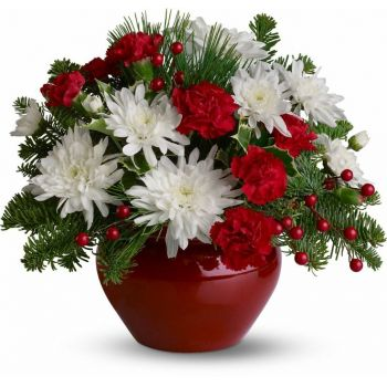 Torremolinos flowers  -  Scarlet Beauty Flower Bouquet/Arrangement
