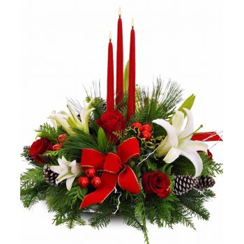 Torremolinos flowers  -  Festive Glory Flower Bouquet/Arrangement