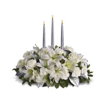 Malaga flowers  -  White Inspiration Flower Bouquet/Arrangement