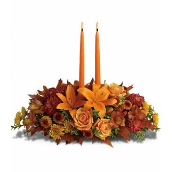 Malaga flowers  -  Autumn Glow Flower Bouquet/Arrangement