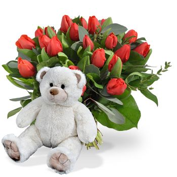 Beirut Online blomsterbutikk - Teddy Affection Bukett